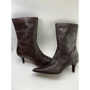 Worthington Womens Sz 9.5M Brown Leather Boots
